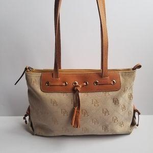 Dooney & Bourke Canvas Leather Shoulder Tote Bag